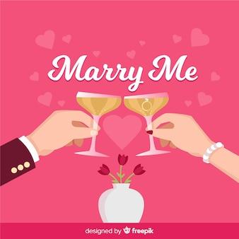 Romantisches vorschlagskonzept