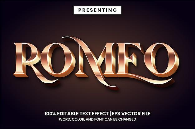Romeo klassischer metallischer texteffekt