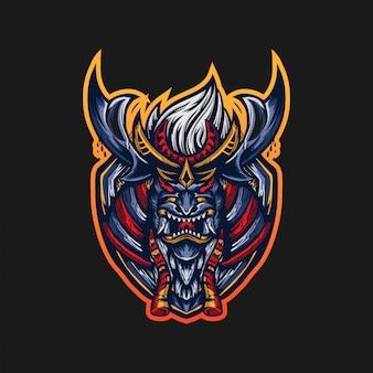 Ronin maskottchen logo