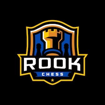 Rook chess sport logo