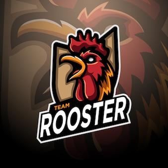 Rooster logo gaming esport vorlage
