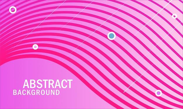 Rosa abstrakte wellenlinie hintergrund
