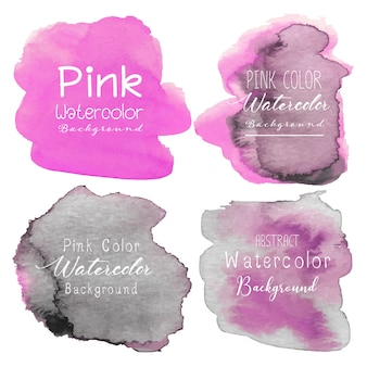 Rosa abstrakter aquarellhintergrund.