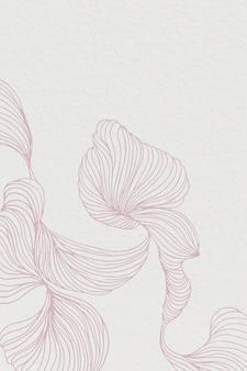 Rosa abstrakter blumenrahmen
