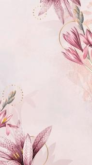 Rosa amaryllis-muster-hintergrund-vektor
