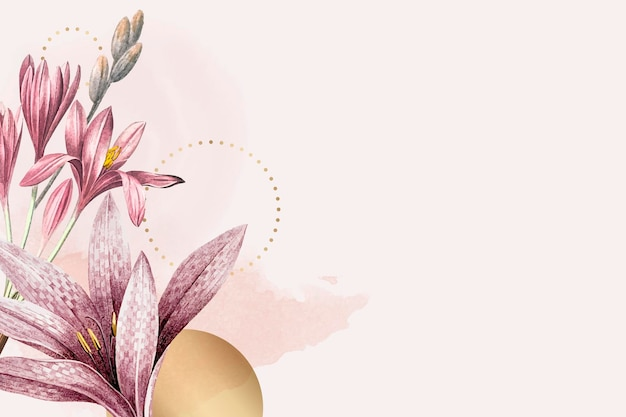 Rosa amaryllis-musterhintergrund
