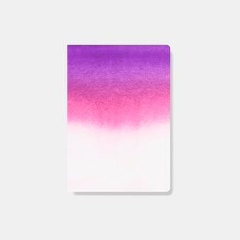 Rosa aquarellartkartenvektor