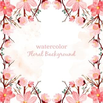 Rosa aquarellblumenhintergrund