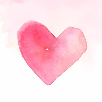 Rosa aquarellherz