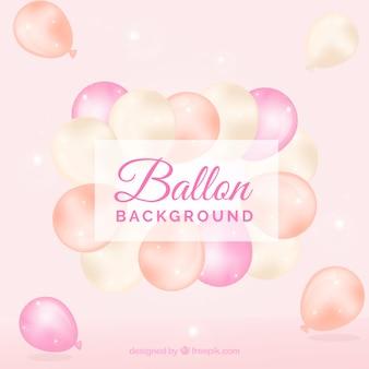 Rosa ballone hintergrund zu feiern