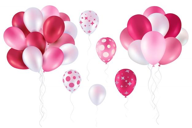 Rosa ballonsammlung