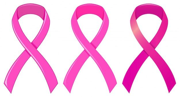 Rosa band als medizinisches symbol