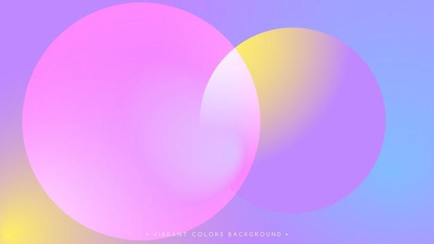 Rosa blaue vibrierende farben und steigung