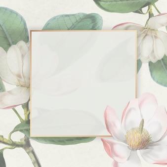 Rosa blühender blumenrahmen
