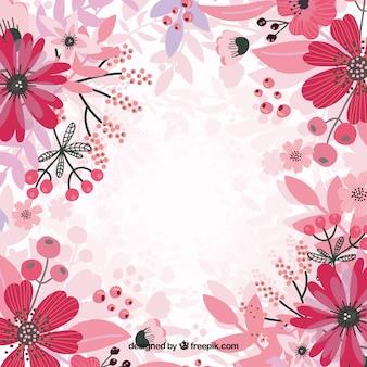 Rosa blumen hintergrund vektor