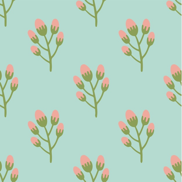 Rosa blumen-muster-hintergrund-blumen-vektor-illustration