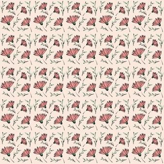 Rosa blumen-verpackungs-hintergrund-muster