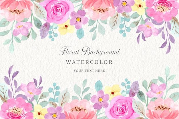 Rosa blumenaquarellhintergrund
