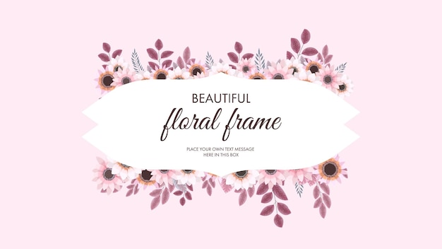 Rosa blumenelemente und blumenrahmen im detaillierten stil für grußkarten, hochzeitseinladungen