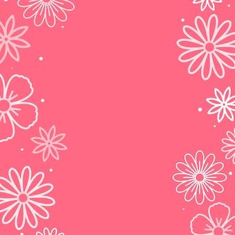 Rosa blumenmuster