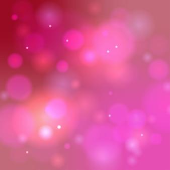 Rosa bokeh hintergrund. abstraktes defocused kreisrosa ein violettes bokeh