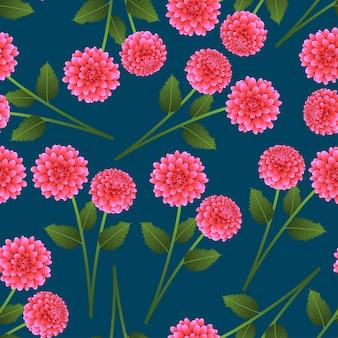 Rosa dahlie auf indigo blue hintergrund.