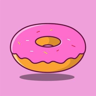 Rosa dessert-karikatur-symbol-illustration