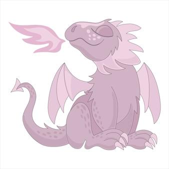 Rosa dragon märchen-cartoon-tier