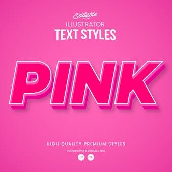 Rosa farbe moderner abstrakter texteffekt bearbeitbarer grafikstil