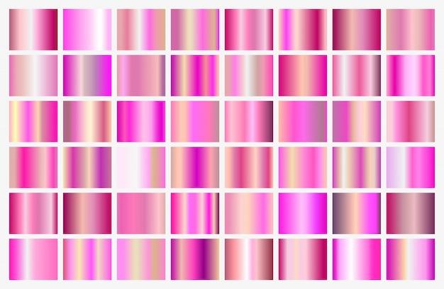 Rosa farbverläufe festgelegt