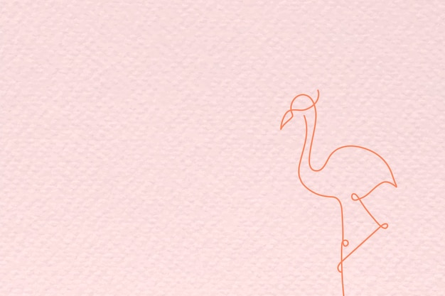 Rosa flamingo strukturierter hintergrundvektor