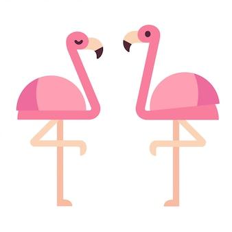 Rosa flamingos