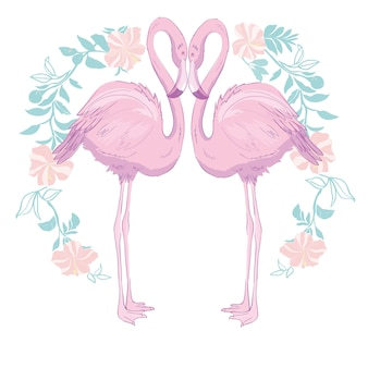 Rosa flamingovektorillustration