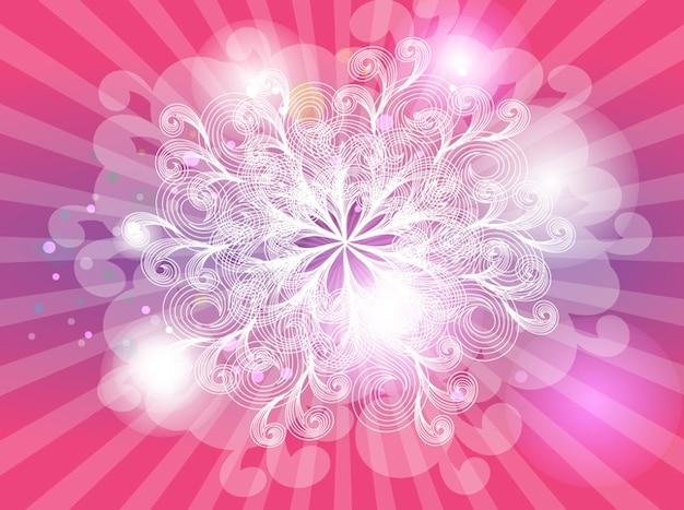 Rosa formen abstrakte hintergrund