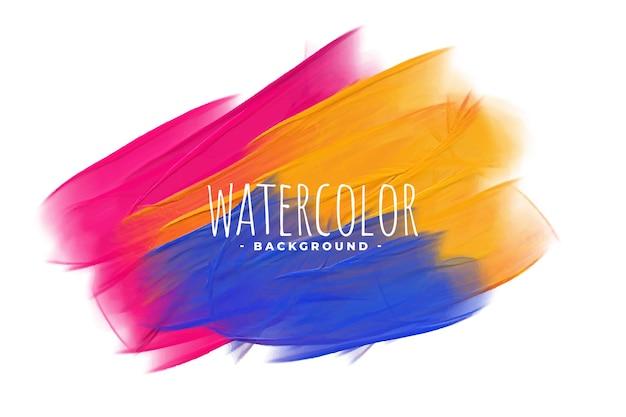 Rosa gelber und blauer aquarellbeschaffenheitshintergrund