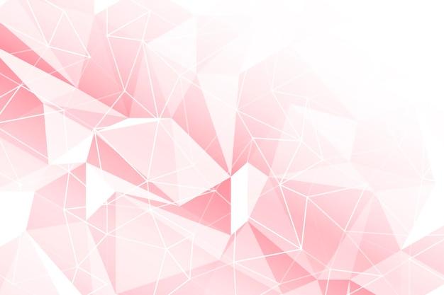 Rosa geometrischer hintergrund