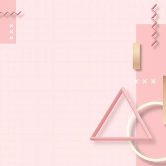 Rosa geometrischer memphis-designelementvektor