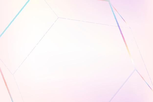 Rosa geometrisches sechseckiges prisma