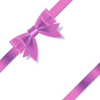Rosa geschenkband. vektor-illustration. eps 10.