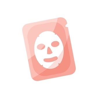 Rosa gesichtsmaskenverpackung