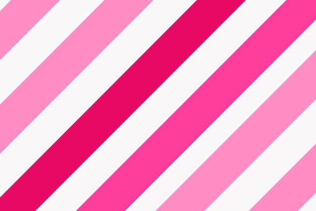 Rosa gestreifter hintergrund, buntes muster, niedlicher designvektor