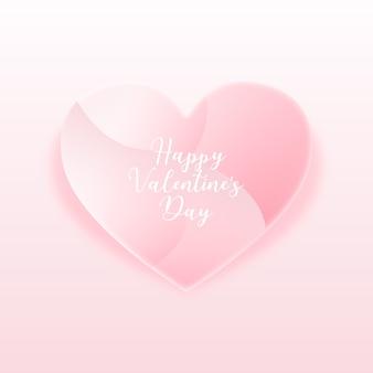 Rosa herz-rahmen zum valentinstag