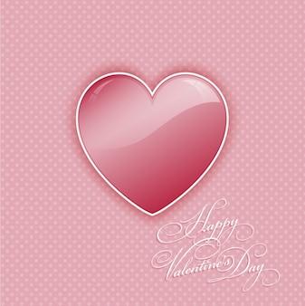 Rosa herz valentinstag hintergrund