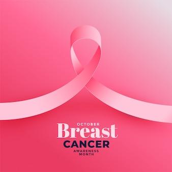 Rosa hintergrund für brustkrebs-bewusstseinsmonat