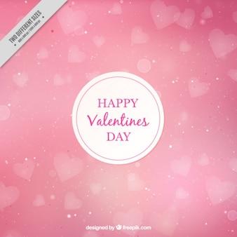 Rosa hintergrund für den valentinstag mit bokeh-effekt