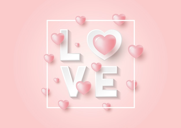 Rosa hintergrund für den valentinstag