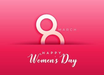 Rosa Hintergrund für den glücklichen Frauentag