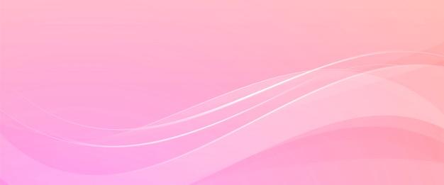 Rosa hintergrund mit abstrakten wellen