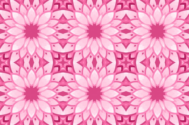 Rosa hintergrund mit nahtlosem blumenfliesenmuster