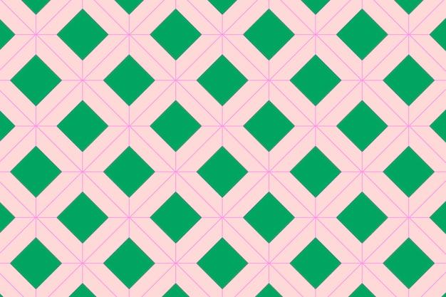 Rosa hintergrund, niedliches geometrisches muster, bunter designvektor